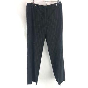 Larry Levine Stretch Pinstripe Career Pants 10